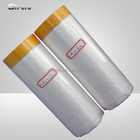 DIY pre-taped masking film with cloth tape for decoration protection