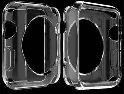 For Apple Watch Transparent Clear Case, 2 in 1 Transparent Soft Case