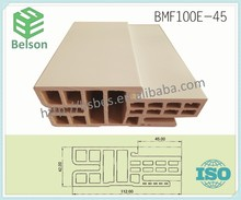 plastic door leaf and wood frame, door jamb