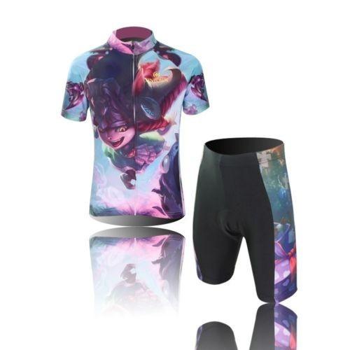 новый велосипед Велоспорт короткие одежда набор детей велосипедов Джерси + шорты