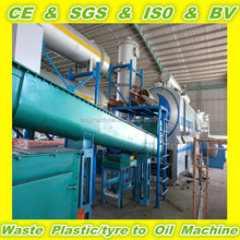 20000 tons year handle capacty fully automatic continuous waste tyre pyrolysis plant for making oil