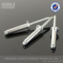 DIN7337 Aluminium steel close end CSK countersunk head blind rivet (M2.4-M6.4)
