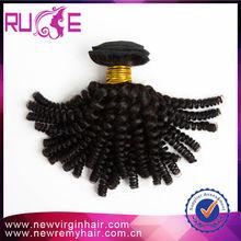 Grado AAAAA Guangzhou productos para el cabello 24 '' kinky virgen rizada barata del pelo indio natural crudo