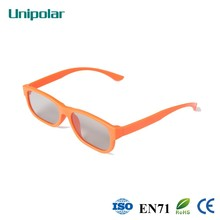 Good look and brighting color polarized plastic 3D glasses for child