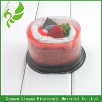 2015 New Products Customized Clear Plastic Packaging Round Cake Box