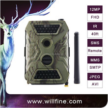 12 MP 1080P PIR no glow 940nm ir invisible trail gsm mms hunting camera for security surveillance
