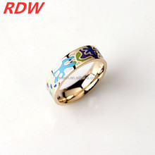 2015 RDW Euramerican manufacture new design round dots light green fashion enamel Rings