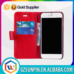 New style two mobile phones wallect flip leather case for iphone 6