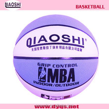 Size 7 laminated PVC basketball for sales