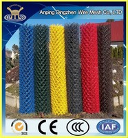 Low Plastic Chain Link Fence Price safety fence For big selling