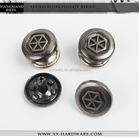 blank metal rivet with printed custom logo
