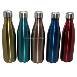 customized logo17oz double wall vacuum flasks ss sports drinking bottles 500ml cola shape thermos tumblers