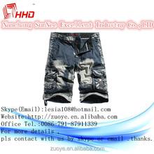 2015 hot vente hommes shorts et blanc 100% coton denim conseil pantalons et gros casual hommes travaillent pantalons shorts made in china