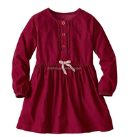 (CD901#)2-10Y OEM Fancy 21W Corduroy Baby Dress Frock Designs Winter long sleeve girl Party Dress