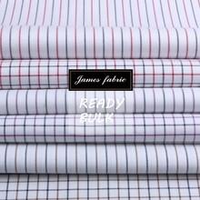 James pure cotton oxford classical stripe and check fabric