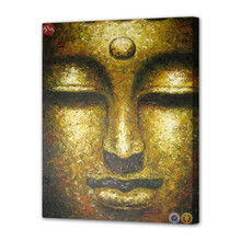 Modern wall art decor dropship buddha face oil painting