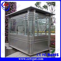 Flexible design low cost convenient long life steel sentry box & sentry box house & prefab steel house