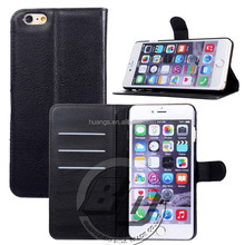 Ultra High Quality Magnetic flip leather wallet case with card slots luxury leather case for iPhone 6 Plus lowest price