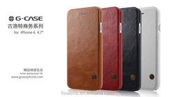 FL3662 Top Selling for iPhone 6s Plus Case Cover, G-CASE GULORT Series Flip Cover for iPhone 6s Leather Case