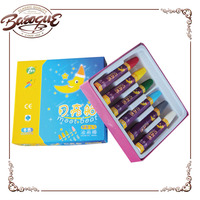 Hot sale washable children mini 6 colours wax crayons, non toxic oil drawing pastels color pen set for kids