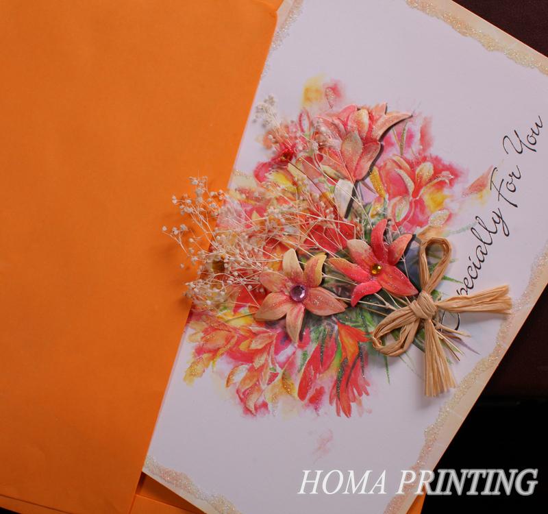 Открытки с сухими цветами 55