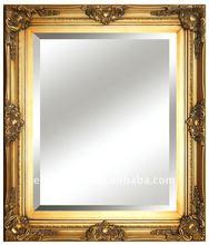 2015 hot fashion elegant solid wood Golden Mirror Frame