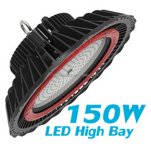 150W round LED highbay for garage replace flat high bay light