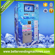 LCD advertising display type coin, cash, IC card function automatic ice vending machine