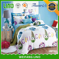 luxury wholesale cotton printed kid bed sheet