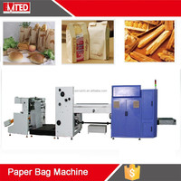 RZ-250 Professional Supplier of paper bag making machine with two or four color flexo printing