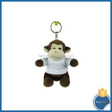 Sublimation T Shirt Plush Monkey Toy Keychain