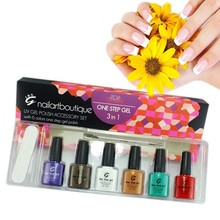 Hot!!! uv gel nail polish kits /one step gel polish /soak off UV LED gel polish last for 2-3 weeks