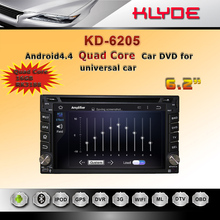 hot sale model quad core Android4.4 HD screen mirror link car DVD cd player auto for universal kd6205