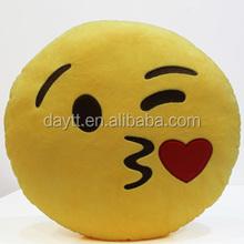 cute emoticon crystal soft plush stuffed emoji cushion with CE certification