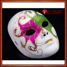 PAR-091 Yiwu Caddy Halloween interesting dancer party red green color paint plastic mask for sale, face mask