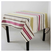 Western striped restaurant table cloth