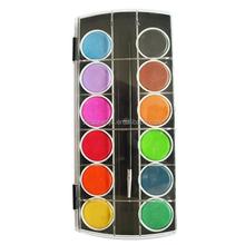 Высокое качество горячая-продажи 12 цветов круглый художник палитра краска комплект