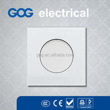 high quality glass light switch one gang switch round/square button switch