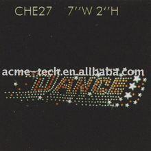 Free shipping hot fix rhinestone motif,Cheer