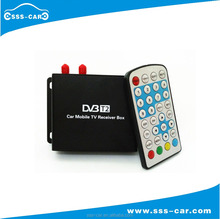 160km/h full HD DVB-T2 Digital vehicle Receiver for Car dvb-t2 receiver with real dual tuner