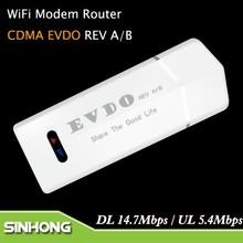 Descarga 14.7 Mbps USB 3 G CDMA EVDO Router WiFi