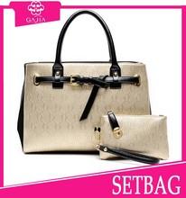 2015 hot sale leather handbag making machine transparent shopping bag shoulder bag/wallet 2 pcs in 1 set bags handbags guangzhou