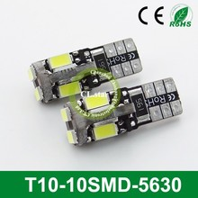 Discount price high lumens led 12v T10-10smd light led car 5630 chip auto lamp led