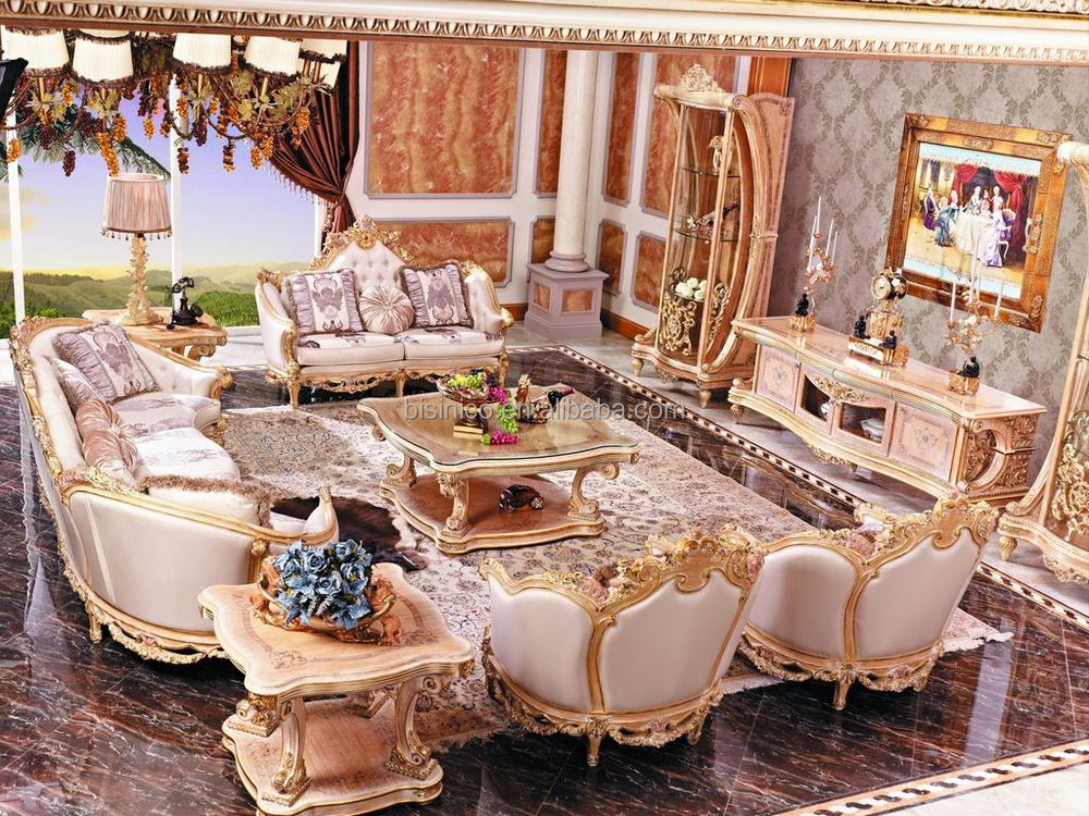 Luxury French Rococo Style Living Room TV StandEuropean