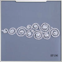 2015 new product crystal patches rhinestone applique sew on bridal wedding dress