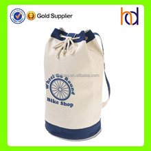 China manufacturer custom gym use round canvas tote