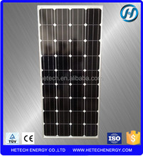 A class mono 130w solar thermal panel with TUV CE ISO approved