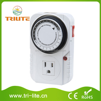 CE certificate 24Hrs Mechanical Timer USA, Canda plug