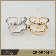 China Jewelry Wholesale Earrings Valentine Gifts Lover Arrow Silver And Gold Plated Ring