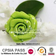 verde manzana de una sola cara de la cinta de raso flor color de rosa